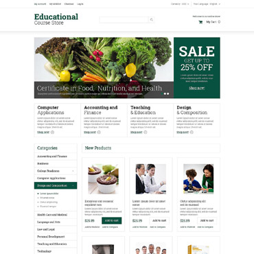 Education Responsive Magento Theme