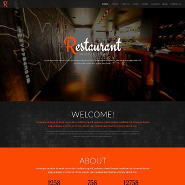 Restaurant WordPress Theme #52083