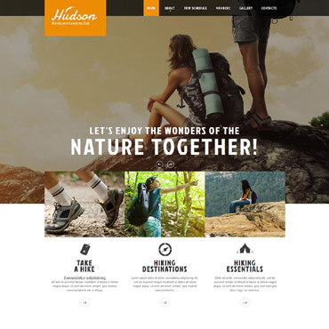 Hiking Responsive Website Template