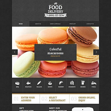 Delivery Services Moto CMS HTML Template