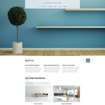 Real Estate Agency Responsive Website Template #52227