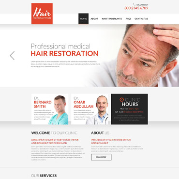 Hair Clinic Responsive Website Template