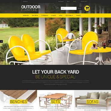 Stylish Outdoor Furniture PrestaShop Theme #52247
