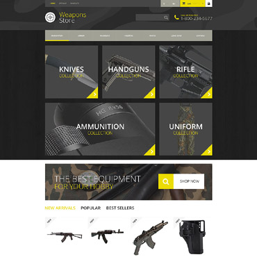Weapons Store Responsive PrestaShop Theme