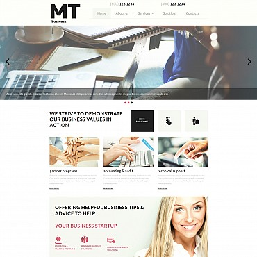Consulting Responsive Moto CMS 3 Template