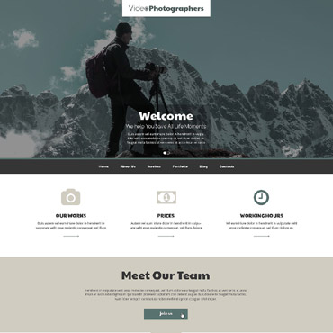 Videographer Responsive Drupal Template