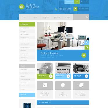 Medical Equipment OpenCart Template #52375