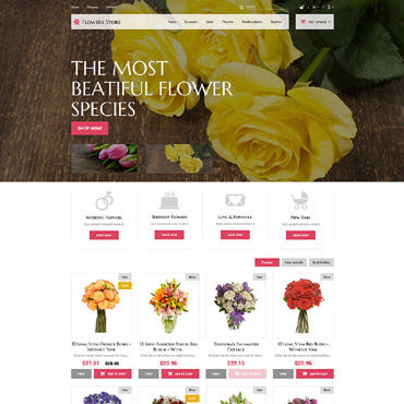 Flowers for Special Occasions PrestaShop Theme #52387