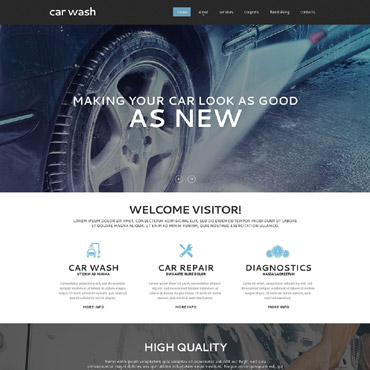 Car Wash Responsive Website Template