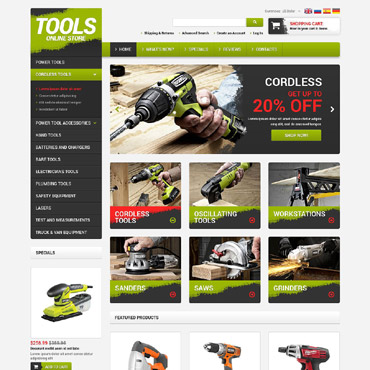 Tools & Equipment OsCommerce Template