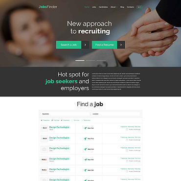 Job Portal Responsive WordPress Theme #52547