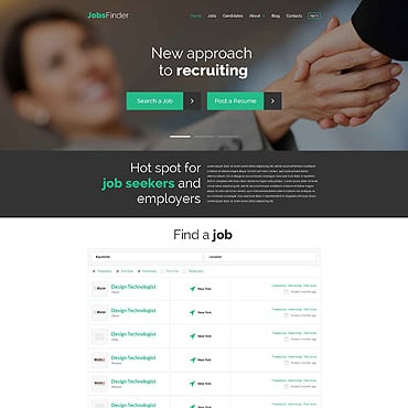 Job Portal Responsive WordPress Theme
