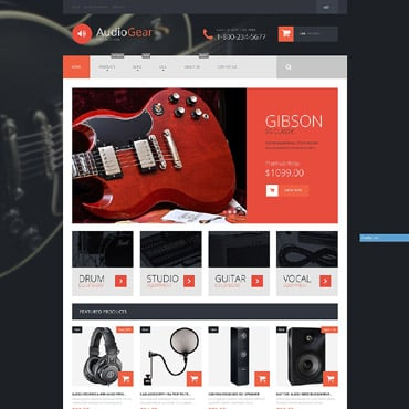 Audio Store Responsive Shopify Theme