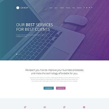 Web Design Responsive WordPress Theme #52603