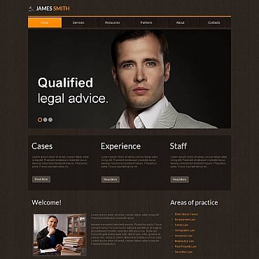 Lawyer Moto CMS HTML Template