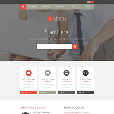 Domain Registrar Responsive Website Template