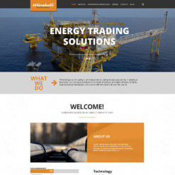 Gas & Oil Responsive WordPress Theme
