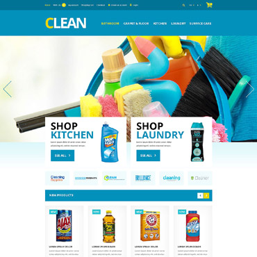 Cleaning Responsive OpenCart Template