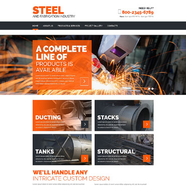 Steelworks Responsive Website Template #52807