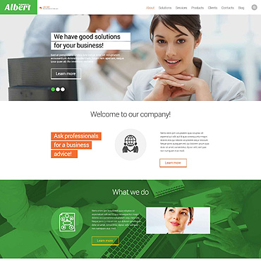 Consultancy Business Website Template #52839