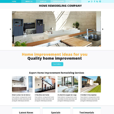 Home Remodeling Responsive Website Template