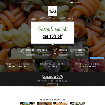Food Store Responsive Shopify Theme