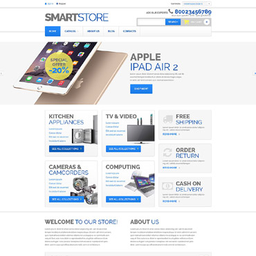 Home Electronics VirtueMart Template #52903