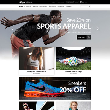 Sports Clothes  Equipment PrestaShop Theme #52907