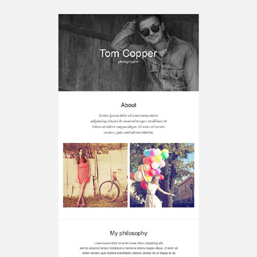 Photographer Portfolio Responsive Newsletter Template