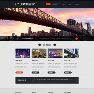 Civil Engineering Responsive Website Template #52975
