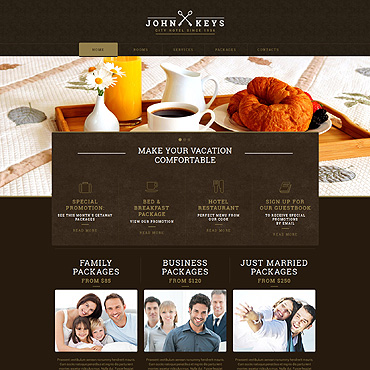 Hotels Responsive Website Template #53027