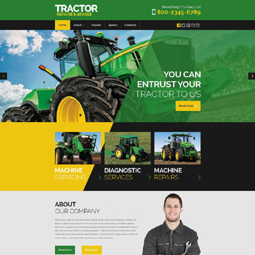 Tractor Maintenance Website Template #53043