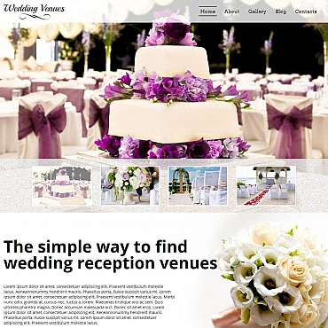 Wedding Venues Moto CMS HTML Template