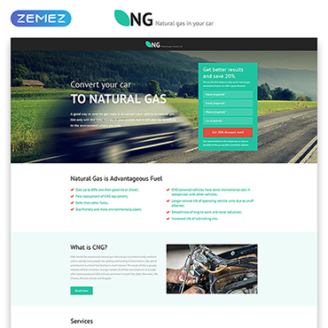 Alternative Power Responsive Landing Page Template