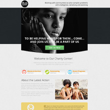 Charity Unbounce Template