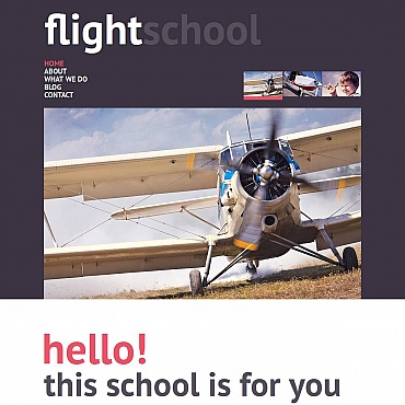 Flight School Moto CMS HTML Template