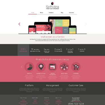 Web Development Responsive Drupal Template