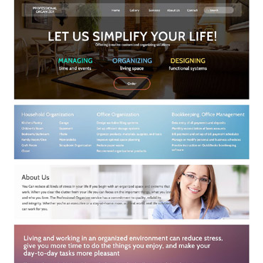 Office Responsive Website Template #53275