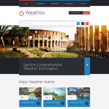 Weather Responsive Website Template