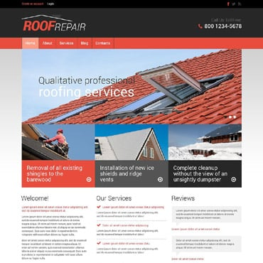 Roofing Company Responsive Drupal Template #53351