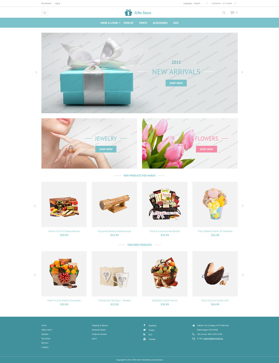 Gift Store OsCommerce Free Theme