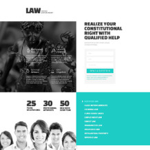 Law Firm Responsive Landing Page Template