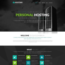 Hosting Responsive WordPress Theme