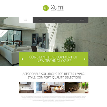 Interior  Furniture Store WordPress Theme #53391