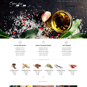 Spice Shop Responsive WooCommerce Theme