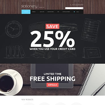 Stationery Responsive ZenCart Template