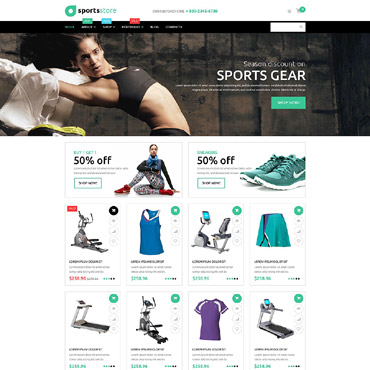 Sports Store Responsive WooCommerce Theme