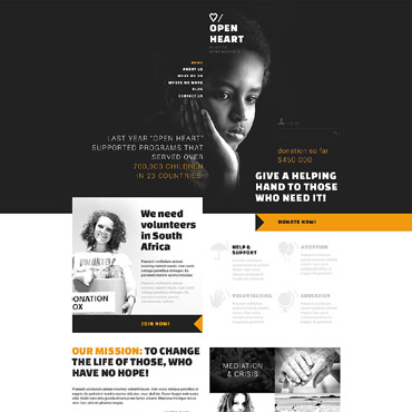 Charitable Donation Joomla Template #53503