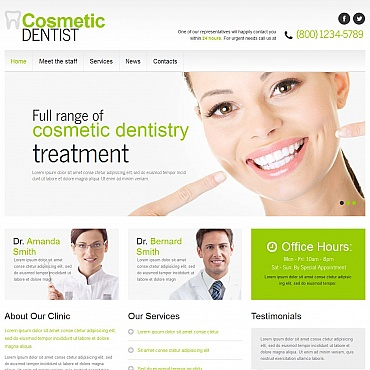 Dentistry Moto CMS HTML Template
