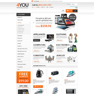 Wholesale Store Responsive VirtueMart Template